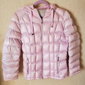 Calvin Klein Powder Pink Puff Coat